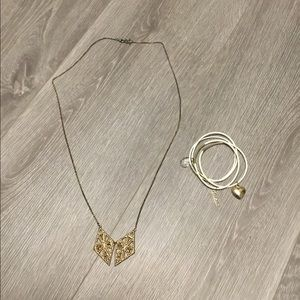 Guess bracelets and necklace bundle